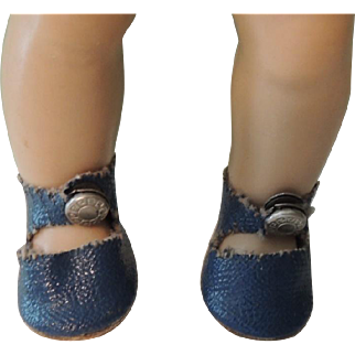 Royal Blue Vogue Ginny Center Snap Shoes and Socks