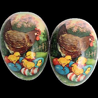 Impressive Huge W. German Papier Mache Easter Egg