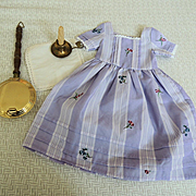 American Girl Pleasant Co. Felicity Lavender Dress, Candle Holder and Bed Warmer