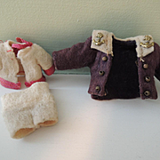 Tiny HTF Felt Clothing for Mignonette and All Bisque Dolls