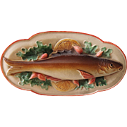 Funky Little Viscaloid Celluloid Fish Doll House Platter