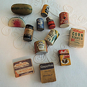 Vintage Miniature Doll House Grocery Store Food