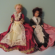 French Celluloid Lady Pair ~ Some TLC