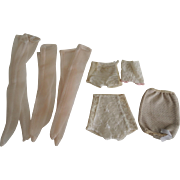 Vintage Fashion-Type Doll Girdles and Pink Nylons