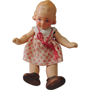 Sweet Little Painted Bisque German Doll House
