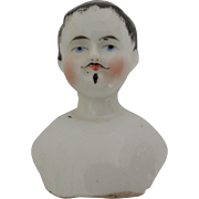 Smaller Sized China Boy Head  with Moustache and Goatee * Needs Body