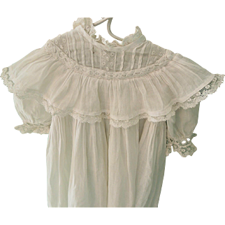 Lovely Long White Gown For Baby Doll