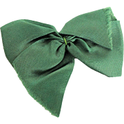 Lovely Wide Green Satin Bow for Vogue Ginny