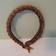 Unique Real Braided Human Hair Headband * Mourning Piece