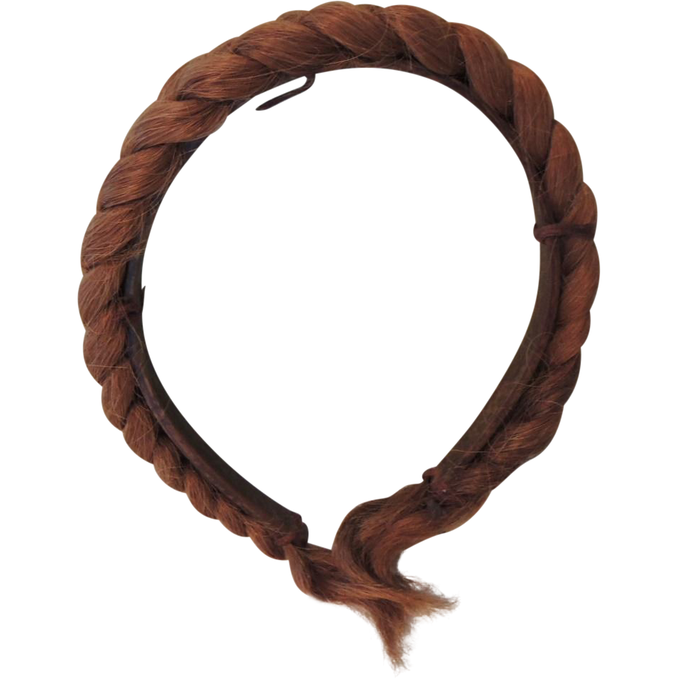Unique Real Braided Human Hair Headband * Possibly A Mourning Piece