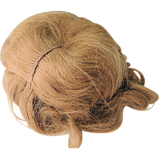 Lovely Blond Human Hair Doll Wig