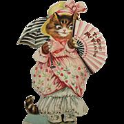 Dressed Kitten Mechanical Valentine