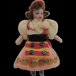 Darling French Lilliputian SFBJ All Bisque Doll