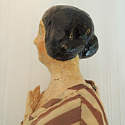 Lovely 13 Inch Papier Mache Milliners Model with Bun