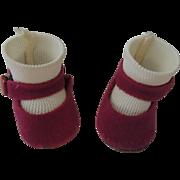 Alexander-kins Magenta Side Snap Shoes with Socks