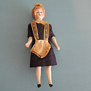 Lovely Miniature Doll House Maid with Molded Bun