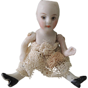 Tiny All Bisque Peg Jointed Girl * TLC