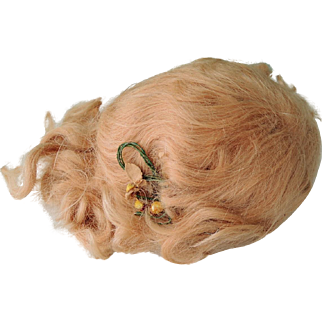 Lovely Original Strawberry Blond Mohair Doll's Wig
