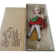 Darling 3.75 Inch All Bisque Mignonette Type Needing TLC Nestled In Candy Box