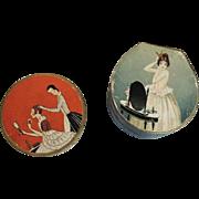 Two Miniature Richard Hudnut Powder Boxes