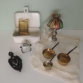 Various Vintage Doll House Miniatures