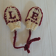 Tiny Colorful Mittens for Vintage Dolls