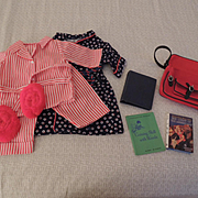 American Girl Pleasant Co. Molly's Robe, PJs, School Bag and Books