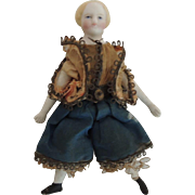 Tiny Parian Doll In Original Costume
