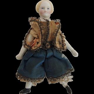 Tiny Parian Doll In Original Costume