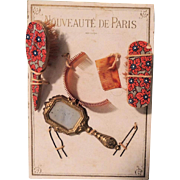 """Nouveaute De Paris"" French Fashion Accessories on Card In Box"