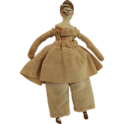 Early Peg Wooden Miniature Doll