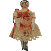 Tiny Peg Wooden In Sweet Dress