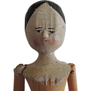 Sweet Primitive Peg Wooden Doll to Dress