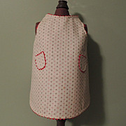 Pretty Cotton Doll Pinafore Apron with Two Front Pockets and Baby Rick Rack