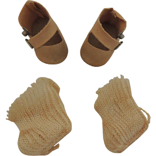 Oil Cloth Side Snap Shoes for Vogue Toddles Dolls and Others
