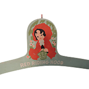 Sweet Wood Red Riding Hood Clothes Hanger