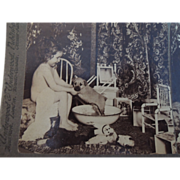 Darling Stereo Card with Dolls, Toys & Puppy Bath