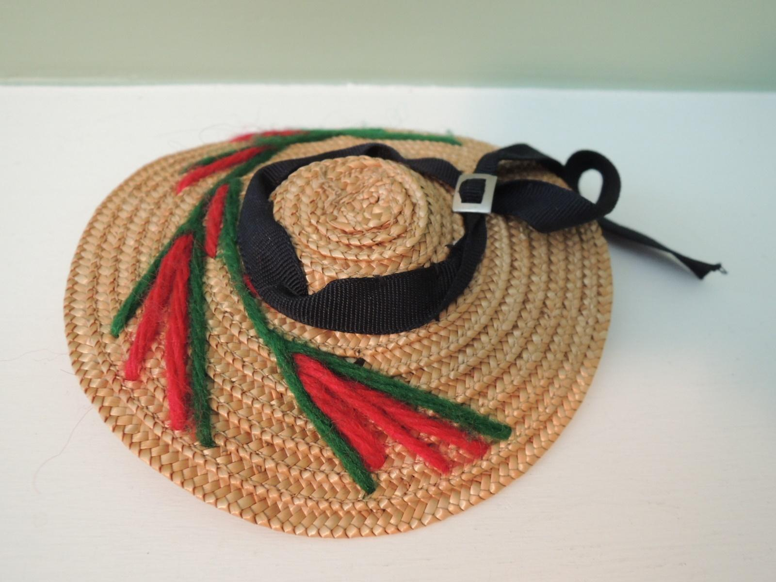 Sweet Little Straw Hat for All Bisque or Mignonette