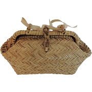 Lovely Straw Purse for Larger Fashion Doll