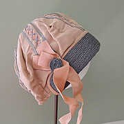 Lovely Tan Cloche Style Hat for Child or Large Doll