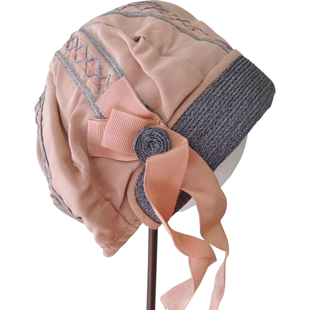 Lovely Tan Cloche Style Hat for Large Doll or Toddler
