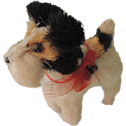 Cute Little Miniature Terrier Dog for Doll's Companion