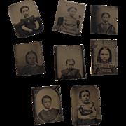 Tintype Miniatures of Children