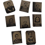 Tintype Miniatures of Children