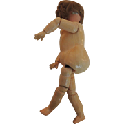 German Painted Bisque head Doll On Darling Jointed Body