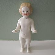 Sweet Blond Frozen Charlotte Bathing Doll * TLC