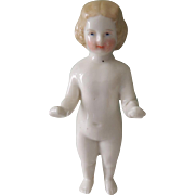 Sweet Blond Frozen Charlotte Bathing Doll * TLC