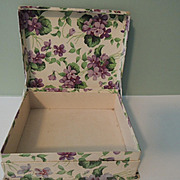 "Lovely ""Violet"" Paper Covered Box with Hat"