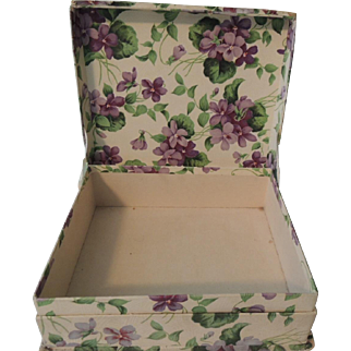 """Lovely """"Violet"""" Paper Covered Box with Hat"""