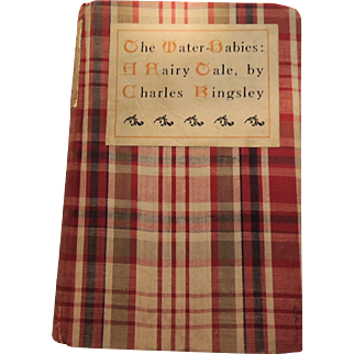 """""""The Water Babies, A Fairy Tale"""" Old Cloth Covered Book by Charles Kingsley"""